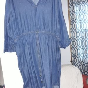 Light weight blue jean dress/tunic